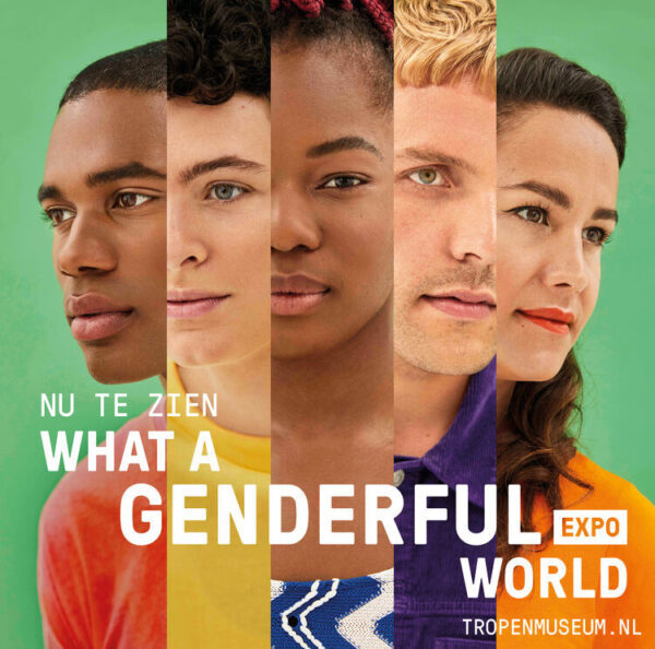 """""""What a genderful world"""" campagnebeeld"""