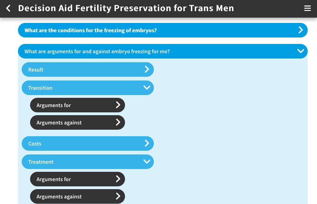 App decision aid Fertility preservation for trans men