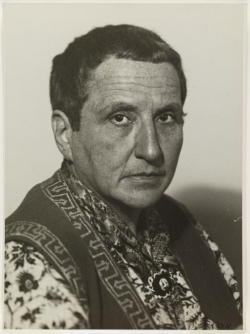 Gertrude Stein by Man Ray (1920's)